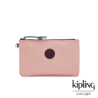 Kipling 蜜桃撞煙燻玫瑰簡約休閒配件包-CASUAL POUCH