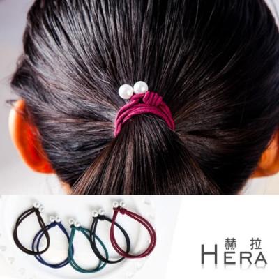 Hera 赫拉 雙層手工打結珍珠手圈/髮圈/髮束(五入隨機)