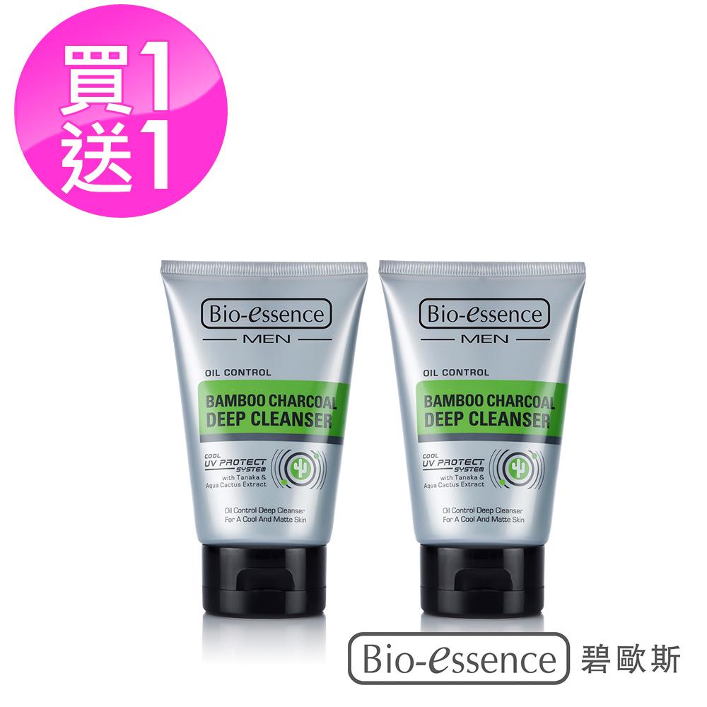Bio-essence 碧歐斯 男士竹炭控油深層潔面霜100G(2入組)