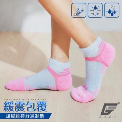 GIAT台灣製類繃萊卡運動機能襪(男女適穿/童話粉)
