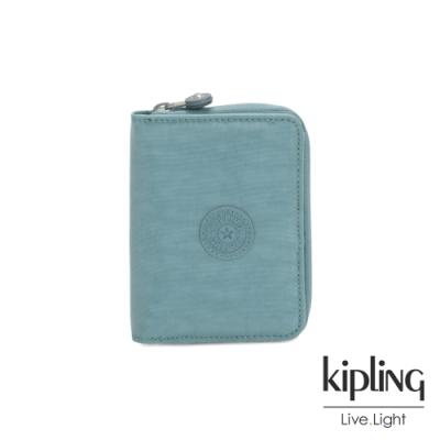 Kipling 冰霜綠短夾-MONEY LOVE