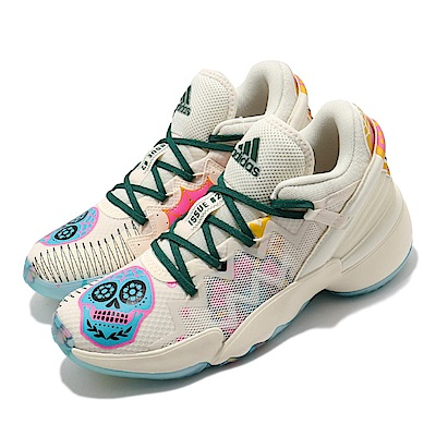 adidas 籃球鞋 DON Issue 2 GCA 男鞋 愛迪達 亡靈節 骷髏頭 Bounce中底 白 彩 FY9996