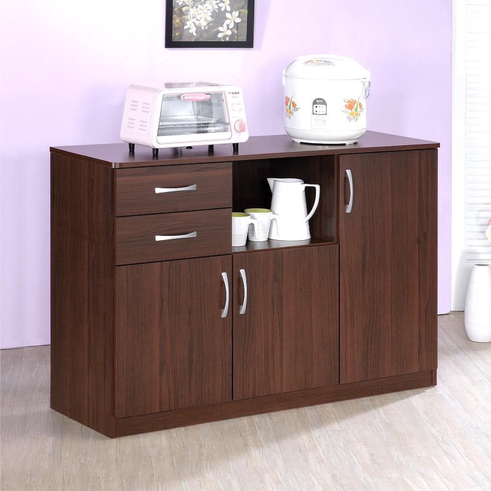 《HOPMA》DIY巧收二抽五格廚房櫃/櫥櫃/收納櫃/置物櫃-寬118.7 x深40 x高81.9cm