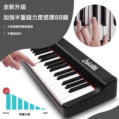 美國【Dulcette】88鍵半重鎚電鋼琴原音 DX-10全新升級 #1美國亞馬遜暢銷 超強勁揚聲系統