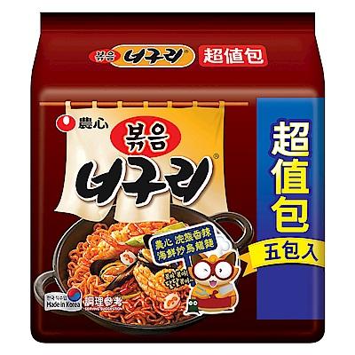 農心 浣熊香辣海鮮炒烏龍麵超值包(137gx5入)