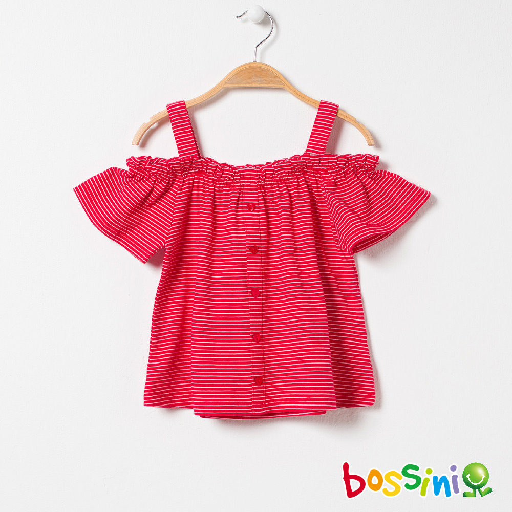 bossini女童-挖肩造型上衣01嫩粉