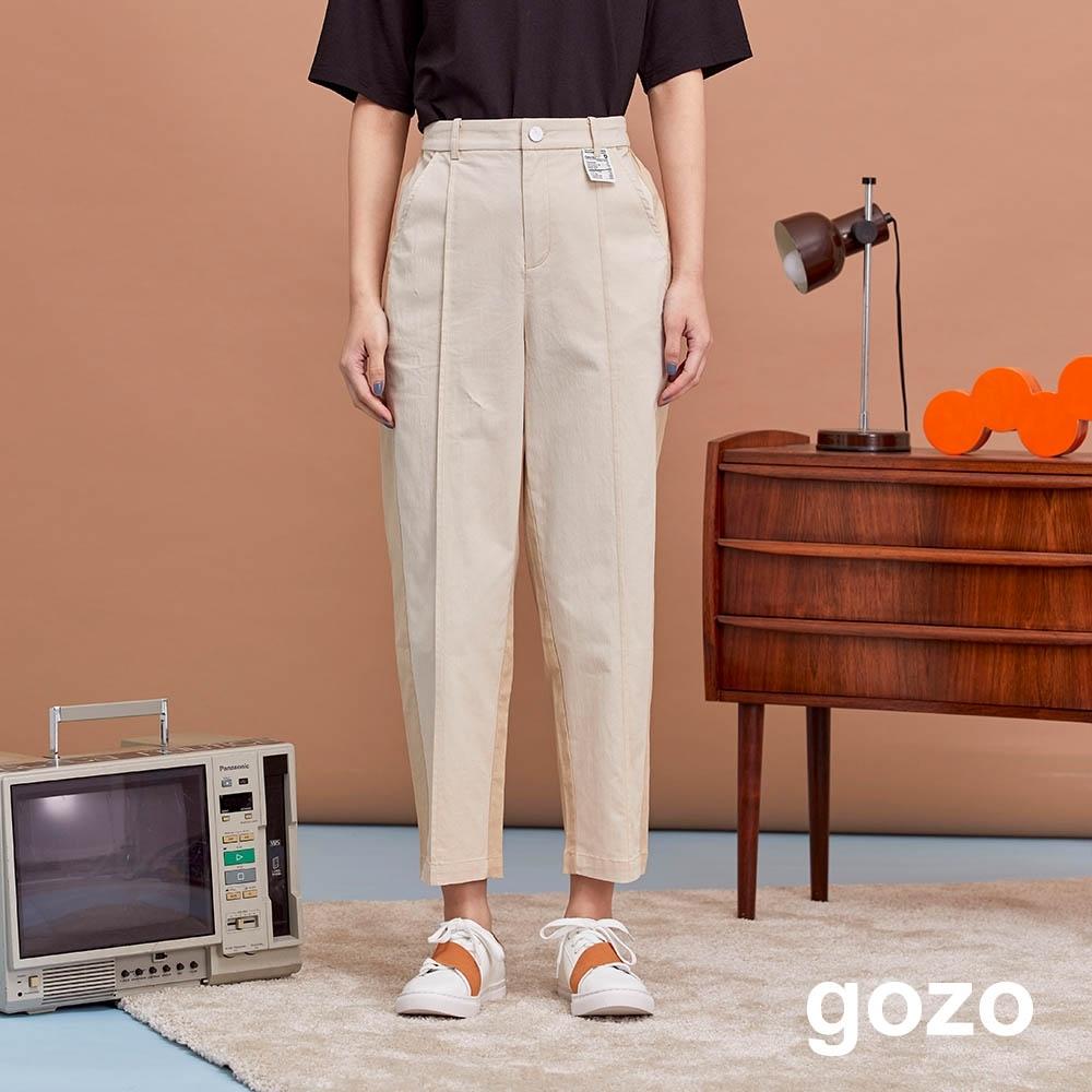 gozo-0卡路里標側拼接直筒褲(三色) product image 1