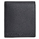 EMPORIO ARMANI 品牌字母LOGO荔枝壓紋八卡短夾(黑)