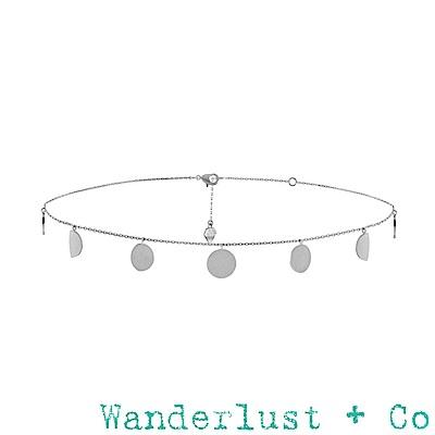 Wanderlust+Co 澳洲品牌 月之女神銀色頸鍊 月圓月缺造型 ECLIPSE