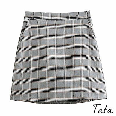 格紋拉鍊短裙 TATA