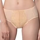 思薇爾 奧羅拉系列M-XXL蕾絲中腰三角內褲(乳酪色)