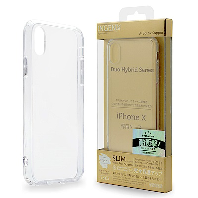 INGENI iPhone XR 超薄耐刮抗震雙材質透明保護殼