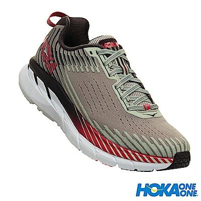 HOKA ONE ONE 女 Clifton 5 路跑鞋 科技網布 合金灰