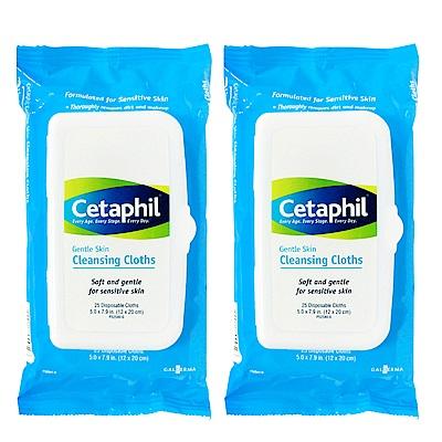 Cetaphil舒特膚 溫和多效潔膚棉25片/盒(兩入特惠組)