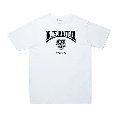 Onitsuka Tiger鬼塚虎-中性虎頭短袖上衣 (白)
