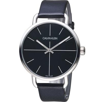 Calvin Klein K7B even 超然時尚腕錶(K7B211CZ)黑/42mm