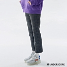 H UNDERSCORE 全新潮牌 女裝 - 小格紋西裝直筒褲 - 黑色