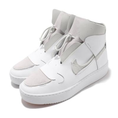 Nike 休閒鞋 Vandalised LX 運動 女鞋 簡約 皮革 麂皮 不對稱細節 穿搭 鴛鴦 白 灰 BQ3611100