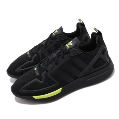 adidas 休閒鞋 ZX 2K Flux 低筒 男鞋 愛迪達 三葉草 透氣 球鞋穿搭 黑 黃 FV8486