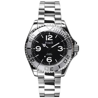 FIBER 美國超時尚夜光運動機械腕錶FB 8008 - 06 A-黑白/ 40 mm