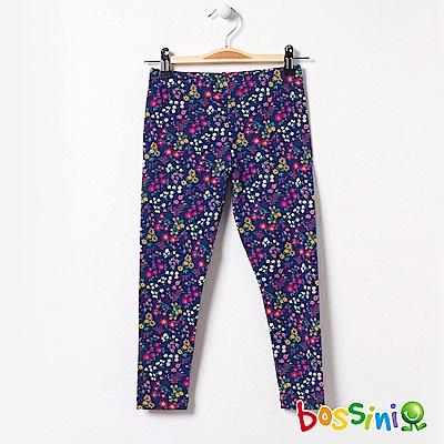 bossini女童-印花針織貼身褲02海藍