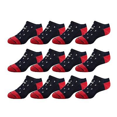 SNUG健康除臭襪 奈米消臭時尚船襪12入組(十字款)