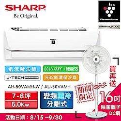 SHARP夏普7-8坪PCI變頻單冷分離式空調AH-50