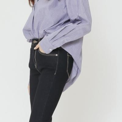 H:CONNECT 韓國品牌 女裝-簡約修身牛仔褲-深藍(快)