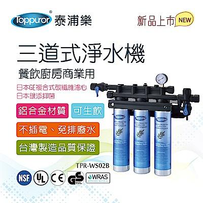 【Toppuror 泰浦樂】商用三道餐飲廚房淨水機(TPR-WS02B)