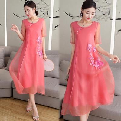 【韓國K.W.】古典美人氣質飄逸洋裝