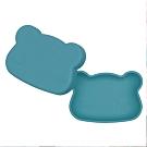 澳洲We Might Be Tiny 矽膠防滑便當盒熊寶寶-孔雀藍