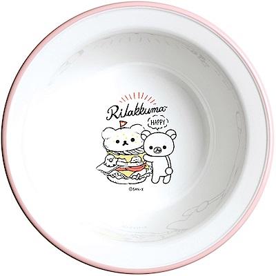 拉拉熊洋食漢堡店系列微波碗。粉 San-X