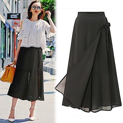 【KEITH-WILL】簡約時尚美感寬褲裙