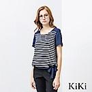 KiKi INLook 舒適棉質緞帶條紋上衣(二色)