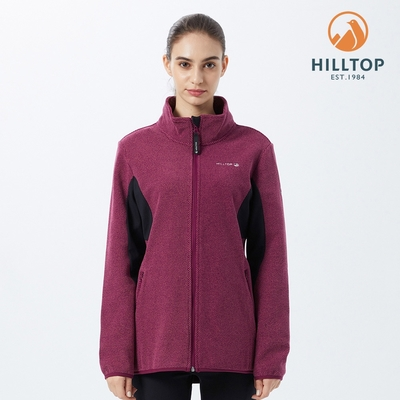 【hilltop山頂鳥】女款石墨烯吸濕快乾保暖刷毛外套H22FX5 紅