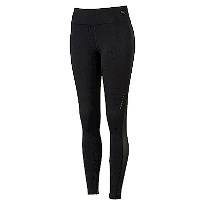 PUMA-女性慢跑系列Speed素面緊身褲-黑色-歐規