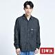 EDWIN 黑牛仔長襯衫式外套-男-黑色 product thumbnail 1