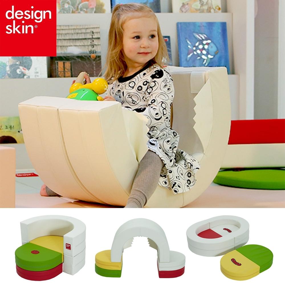 【韓國design skin】兒童圓形蛋糕沙發椅(變形球池樂園/書桌椅/寶寶沙發)