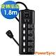 群加 PowerSync 5開5插防雷擊旋轉插座延長線/1.8m/黑色(TS5X0018) product thumbnail 2