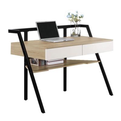文創集 安娜蘇 現代4尺二抽書桌/電腦桌-121x61x92cm免組