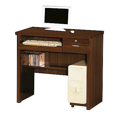 綠活居 摩莉時尚2.7尺木紋書桌/電腦桌(二色可選)-82x45x76cm-免組