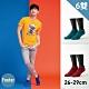 Footer除臭襪--素色美學氣墊防磨船短襪加大款六雙入(藍*2+綠*2+紅*2) product thumbnail 1
