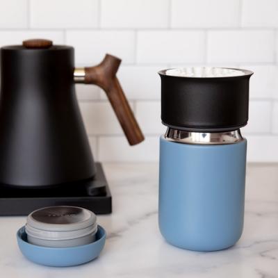 FELLOW Carter卡特陶瓷咖啡真空保溫瓶12oz-理光藍