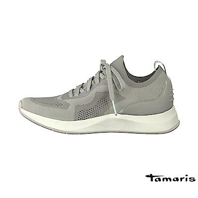 TAMARIS(女) 隠行行者 極輕透彈力網布襪套式都會運動鞋 - 無感灰