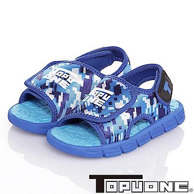 (雙11)TOPUONE極輕量運動休閒涼鞋童鞋-藍