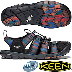 KEEN 1020660黑/彩色 Clearwater CNX男戶外護趾涼鞋