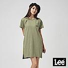 Lee 長版口袋LOGO洋裝/墨綠