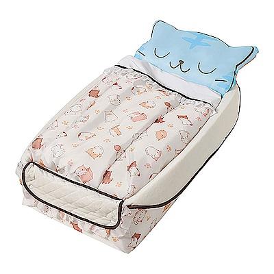 (回饋5%超贈點)【Smart Angel 西松屋】可愛小貓咪-輕便型攜帶式嬰兒床