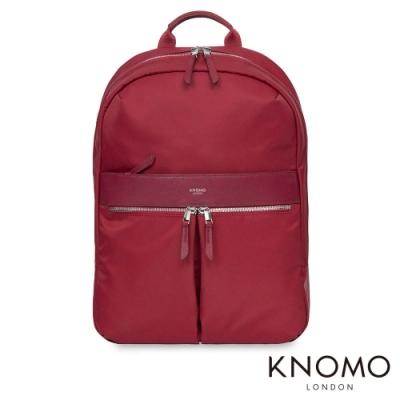 KNOMO 英國 Beauchamp 電腦後背包 - 胭脂红 14 吋