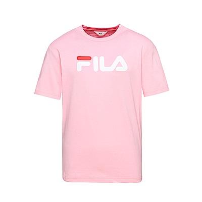 FILA  男款短袖圓領T恤-粉 1TET-1500-PK